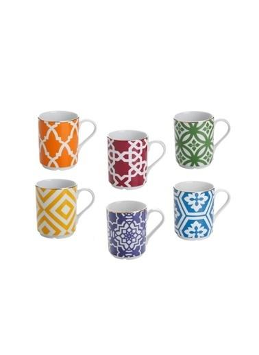 Porland Morocco 6 Renk 6'Lı Kupa Set Renkli